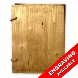 Holz Speisekarte Menu A4 Gold-Finish