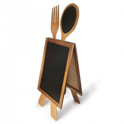 Wooden A-board Cutlery