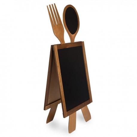 Wooden A-board Cutlery