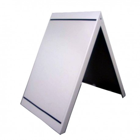 Metal pavement sign - silver