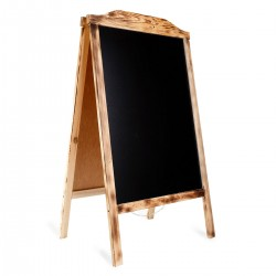 Wooden A-board RO BURN