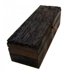Boîte à vin en bois single black