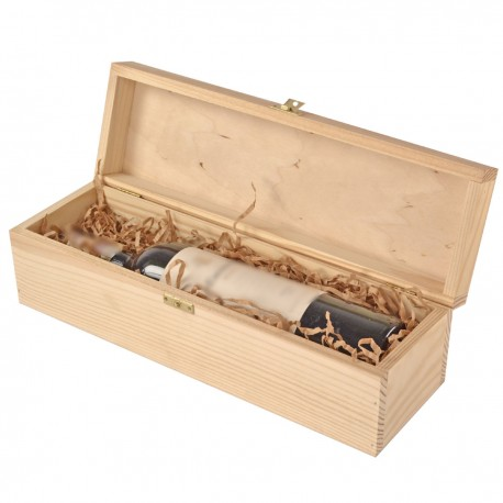 Gift BOX Engraving Single natural with hinges
