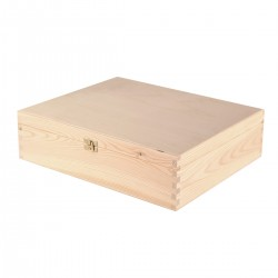 CAJA de Regalo de Madera Triple Natural con Bisagras - Grabado- Triple Natural with Hinges
