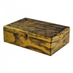 Boîte à vin en bois double gold