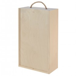 BOX di vino in legno Double Natural - Incisione