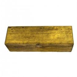 Boîte à vin en bois single gold