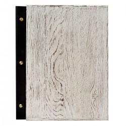 Holz Speisekarte Menu A4 Shabby Chic