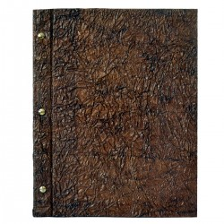 Eco Lux Menu A4 - marron - Wrinkled Brown