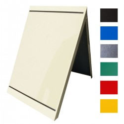 Metal A-board with A1 poster covers - white