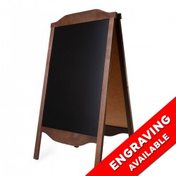 Wooden A-board Engraving RO2