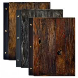Menu di lusso in legno A4