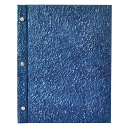 Menu Eco Lux A4 - blu- Wrinkled blue