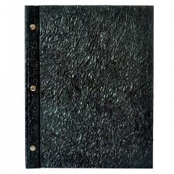 Menu Eco Lux A4 - Wrinkled black