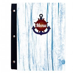 Soporte de madera para menú A4 - Marina 3